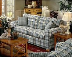 Delicieux Country Style Living Rooms A Little Shabby Chic, But I Think You Could Pull  It Off With The Plaid Inu2026 | HOME DECORATING Primitive Living Room Furniture  ...