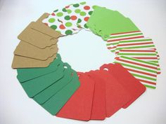 CHRISTMAS Gift Tags Wrap Party Decoration by TheScrappyKat on Etsy, $2.00