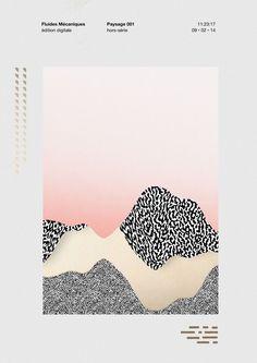 affiche - forme - texture