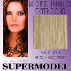"14"" Clip In Human Hair Extensions Colour 22/SB"