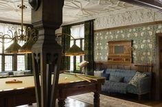 Wightwick Manor, Wolverhampton, West Midlands, Buckinghamshire, England   : The Billiard Room at Wightwick Manor, Wolverhampton, West Midlands ...