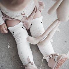 Buy Cute Cartoon Cotton Baby Kids Girls Toddlers Knee High Socks Tights Leg Age at Wish - Shopping Made Fun Fashion Kids, Little Girl Fashion, My Little Girl, My Baby Girl, Fashion Clothes, Latest Fashion, Fashion Goth, Girl Clothing, Outfits Niños