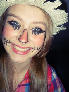Halloween cute scarecrow makeup | Holidays None Sense | Pinterest ...