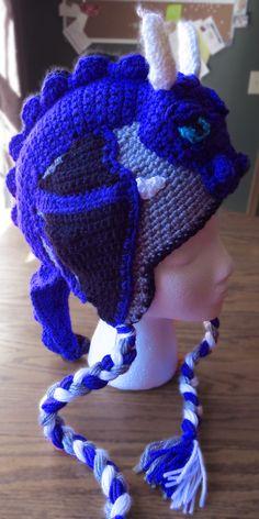 Crochet Dragon Hat - Childrens - Unique - Gift - Baby - Winter - Hats - Adult