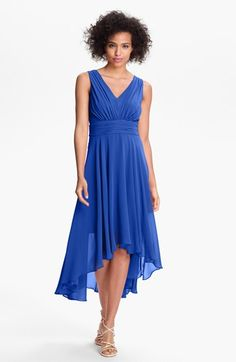 Ivy & Blu for Maggy Boutique High/Low Chiffon Dress (Regular & Petite) available at #Nordstrom