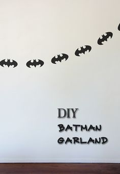 Fun for your home and just a fun activity, check out this great Batman Garland DIY   #BatmanDay