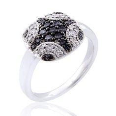 #Malakan #Jewelry - Silver Black Velvet Diamond Fashion Ring  55776A3 #BlackVelvetDiamond #BlackVelvetDiamonds