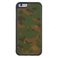 Military camouflage patterns v12 carved® maple iPhone 6 bumper case