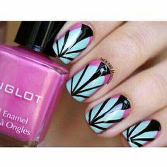 Beautiful colorful summer nailart