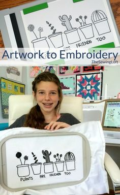 Design custom embroidery with this tutorial. Learn how to transform your child's drawings into thread art. The process is really amazing and such a simple DIY project.