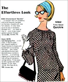 The Effortless Look - sewing fashion patterns - 1966.