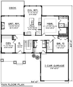 Cottage Craftsman Traditional House Plan 75202 Level One... Simple plan
