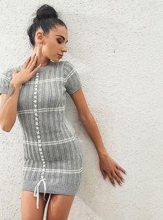 Colorful Warm Long Sleeve Dress premium sale