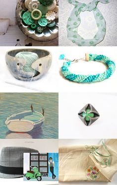 Pretty Minty by Jennifer Ross on Etsy--Pinned with TreasuryPin.com