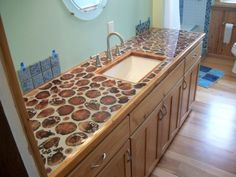 cord wood homes | Cordwood Countertops and Flooring! | Cordwood Construction