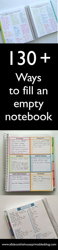 functional ideas to use blank notes pages of your planner or an empty notebook how to use an empty notebook fill blank pages planner monthly idea checklist weekly planner spread plan with me diy personalised Bullet Journal Décoration, Bullet Journal Banners, My Journal, Journal Prompts, Journal Ideas, List Of Bullet Journal Pages, Bullet Journal Printables, Journal Cards, To Do Planner