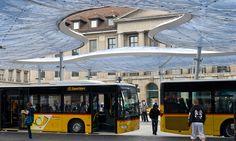 vehovar & jauslin formTL aarau bus station canopy designboom