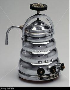 Stock Photo - household, kitchen and kitchenware, espresso machine, early , Additional-Rights-Clearences-NA Coffee Cans, Coffee Maker, Cafe Express, Cuppa Joe, Vintage Microphone, Great Coffee, Kitchenware, Decorative Bells, 1950s