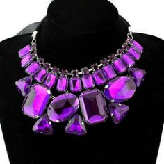 Wonderful Crystal Choker Necklace Rhinestone Tassel Necklace