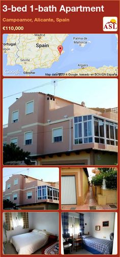 3-bed 1-bath Apartment in Campoamor, Alicante, Spain ►€110,000 #PropertyForSaleInSpain