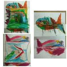접히는 물고기 표현