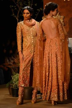 http://www.Sabyasachi.com/ @ at Delhi Couture Week 2013, 'Opium Dream' w/ lot of hand embroidery, applique, zardosi, tilla work, old fashioned crewel embroidery