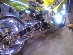 Awesome detail work in this custom-design streetbike. #NYMotorcycleShows #Bikes #Cruisers #Motorcycles