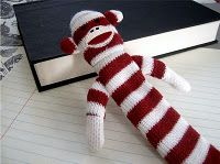 sock monkey bookmark, although the colors are not original