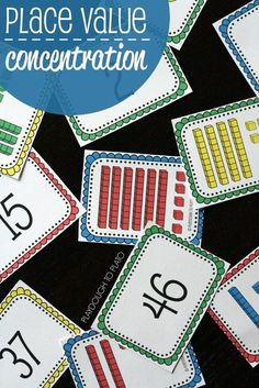 FREE Place Value Concentration. Fun, hands-on way to teach kids about two-digit numbers.