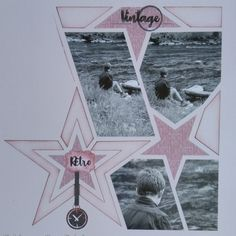 Scrapbook Templates, Stencils, Projects To Try, Polaroid Film, Collage, Celestial, Retro, Star, Crafts