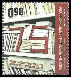 Bosnia and Herzegovina - Serbia Post -- The 75th Anniversary of the National University Library  May 17, 2011
