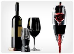 Vinturi Wine Aerator-In order to really enjoy a red wine, it needs time to breathe and release its delicate aromas. A wine aerator speeds up the process?it's as easy and convenient as pouring oneself a glass. Wine lovers will experience a new appreciation for the flavor, bouquet, and finish of his or her favorite wine. $29