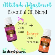 Attitude Adjustment Essential Oil Blend | Young Living Essential Oils #orangeoil #joy #essentialoils thebloomingcarrot.com