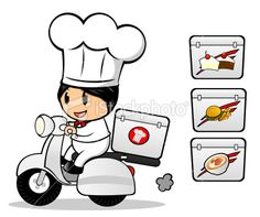 stock-illustration-21933254-chef-delivery-on-scooter.jpg (380×318)