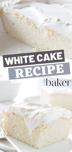 A White Cake Recipe perfect for your sugar cravings! With only 8 ingredients and ready in less than an hour, this easy dessert is sure to be a hit for your family and friends. Try this white cake if you're looking for homemade recipe ideas!