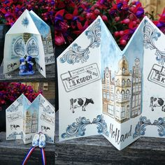 Holland, Folded Cards, Different Colors, Advent Calendar, Stamps, Drawing, Holiday Decor, Painting, Homes