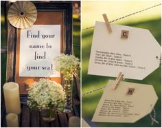 Vintage Style Wedding Place Cards