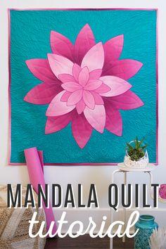 Mandala Quilt Tutorial from Man Sewing!