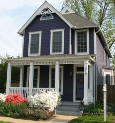 1000 images about colonial revival on pinterest colonial benjamin moore and exterior paint - Purple exterior paint image ...