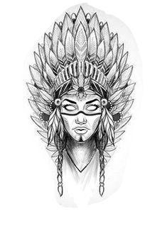 Indian Tattoo Design, Medusa Tattoo Design, Tattoo Design Drawings, Art Drawings Sketches Simple, Tattoo Sketches, 4 Tattoo, Shape Tattoo, Line Tattoos, Body Art Tattoos