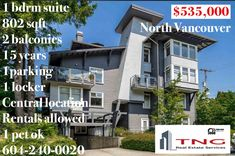 202 118 W 22nd Street North Vancouver, Real Estate Services, 15 Years, Open House, Balcony, Multi Story Building, Mansions, Park, Street