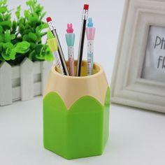 1 개 창조적 인 펜 꽃병 연필 냄비 메이크업 브러쉬 홀더 문구 컨테이너 다기능 책상 홀더
