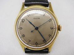 Analog Hand Winding スイス◆MILEX ELEM WATCH15石スチール針手巻 時計 Watch Antique ¥1100yen 〆11月22日