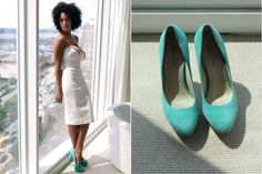 Absolutely love this aqua suede pump :X