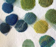 Stitching over Wool on Paper by Karin Lundström