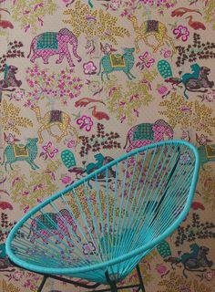 Tapet 33718: Jardin de Mysore Multicolore från Pierre Frey - Tapetorama