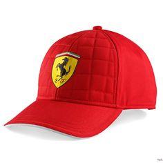 Czapka Ferrari Quilt Stiched Cap - Red   FERRARI ACCESSORIES   Fbutik   Scuderia Ferrari Collection
