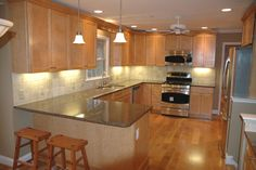 Light Maple Kitchen Cabinets | Photo Gallery Best in NC | Kitchen Cabinets Bath Cabinets Granite ...