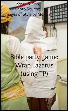 bible party game wrap lazarus