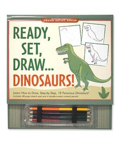Love this Ready, Set, Draw: Dinosaurs Set by Peter Pauper Press on #zulily! #zulilyfinds